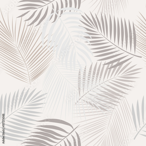 Seamless pattern leaves of palm tree.  - 107276148