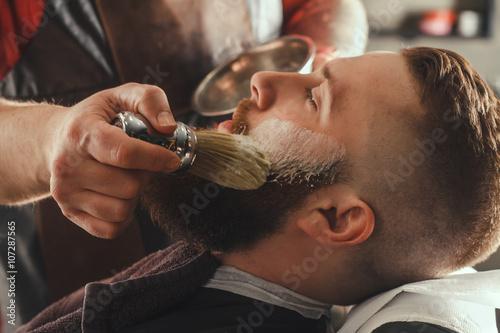 Bearded Man In Barbershop Plakat