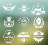 Rugby logo vector set, Football badge logo template - 107302349