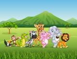 Wild animal cartoon  - 107306126