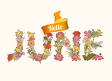 Hello june.  Floral letters