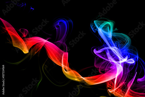 Colored bstract smoke