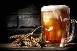 Fototapety Beer near brick wall