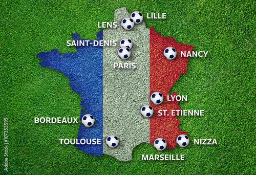 Poster Infographie Villes de l'Euro 2016 France