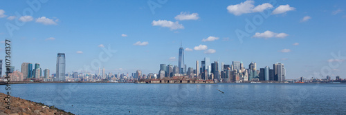 Poster Jersey City and Manhattan from Liberty State Park