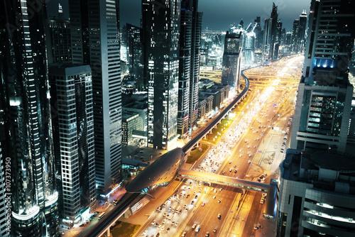 Dubai skyline in sunset time, United Arab Emirates © Iakov Kalinin