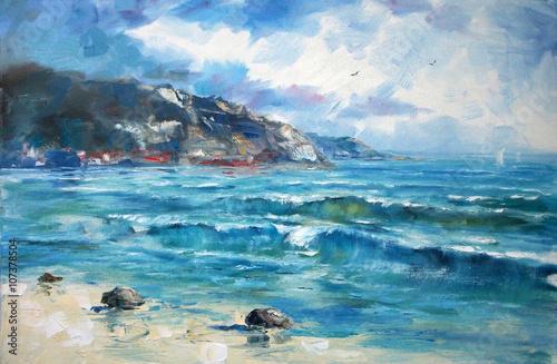 Art Oil Painting Picture Sea © shvets_tetiana