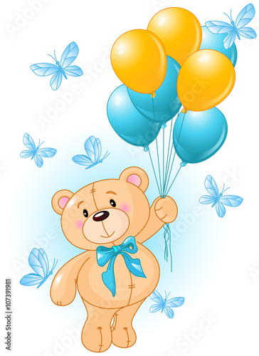 Naklejka Teddy Bear Birthday