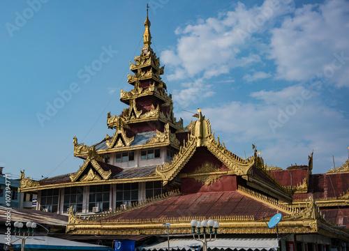 Poster Pagoda in Kawthoung, Myanmar