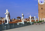 Vicenza, Italy. Ancient statues over the Basilica Palladiana and