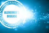 Blue stamp on a glittering background: Alzheimer
