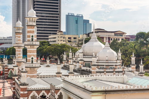 Poster Jama mosque and office towers in Kuala Lumpur