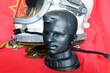 Постер, плакат: Metal sculpture of Yuri Gagarin First man in Space