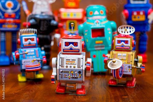 Foto op Canvas Vintage tin toy robot