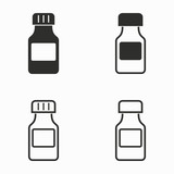 Medicine bottle  vector icons.