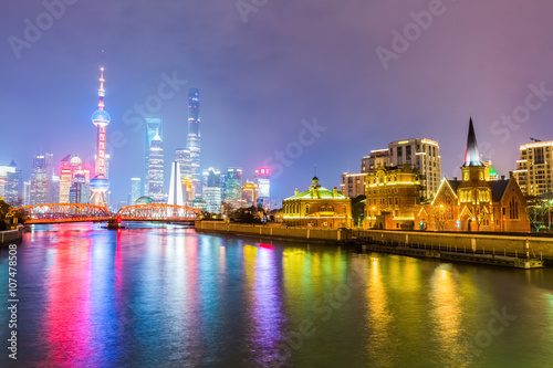 beautiful shanghai at night © chungking