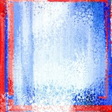 Grunge frame borders background. Red and blue.