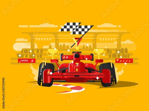 Fototapeta Sport car formula one