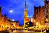 Old town of Gdansk, Poland, in late evening light