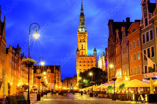Zdjęcia na płótnie, fototapety na wymiar, obrazy na ścianę : Old town of Gdansk, Poland, in late evening light