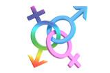 gender symbols, 3D rendering - 107559580