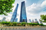The Shanghai Tower and the Shanghai World Financial Center