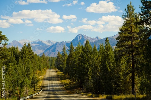 mountain road view