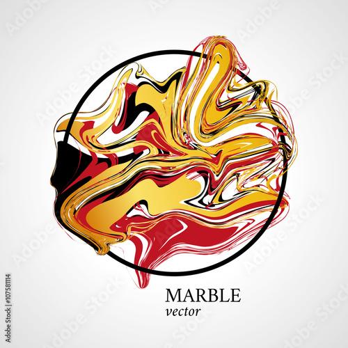 Foto op Canvas Bloemen vrouw Marble abstract geometry symbol circle