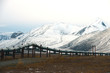 oil pipeline with mountain