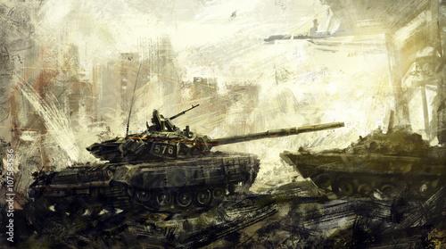 wojna-czolg-bojowy-sztuka-cyfrowa-obraz-cyfrowy-jest