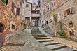 alley in the village Anghiari in Arezzo, Tuscany, Italy