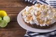 Постер, плакат: пирог с лимонами и безе обожжённым