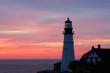 The Portland Head Light Under Sunrise Skies, Portland,Maine, USA