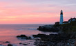 The Portland Head Light Under Sunrise Skies, Portland,Maine, USA