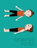 Yoga Corpse Pose Cartoon Vector Illustration