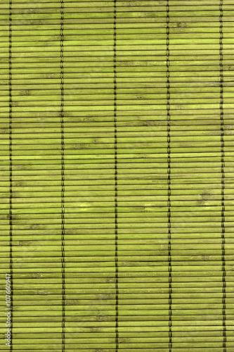 green woven mat