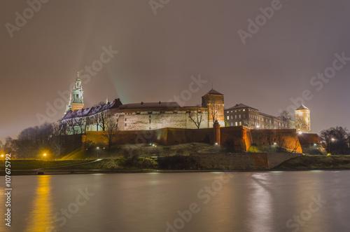Royal castle of the Polish Kings on the Wawel hill, Krakow