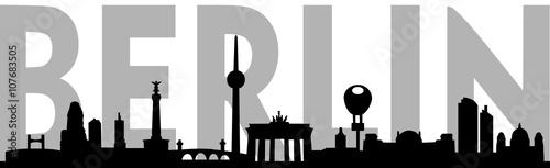 Naklejka Skyline Berlin