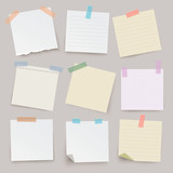 Fototapety Set of different vector note papers.
