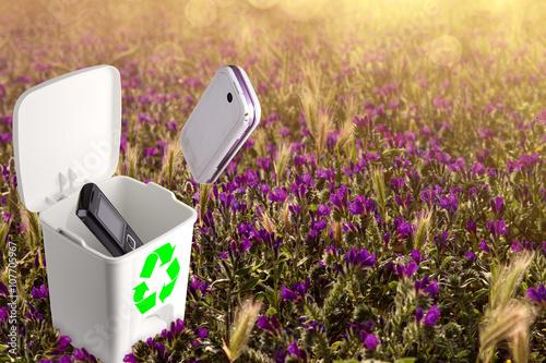 Poster Riciclare vecchi telefoni e smartphone non funzionanti