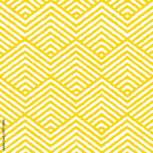 Seamless Vector Geometric Pattern. Repeating geometric texture pattern. Vector illustration. - 107706105