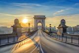 Chain Bridge when sunrise, Budapest, Hungary - Fine Art prints