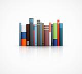 Fototapety row of books on white background