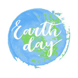 Earth day hand written inscription - 107736769
