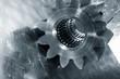 large single titanium cogwheel, aerospace indusdtry