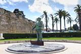 Estatua de Dom Carlos l em Cascais Portugal