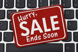 Hurry Sale Ends Soon Sign