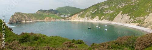 Poster Lulworth Cove Dorset UK panoramic view