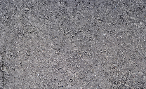 Foto Murales Gray ground surface. Close up natural background