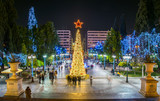 Syntagma square in Athens decorated for Christmas - 107808744